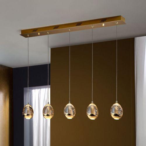 Schuller Rocio 783627 LED Bar Ceiling Pendant 5 Light Gold