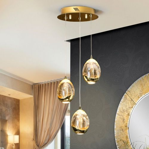 Schuller Rocio 783741 LED Ceiling Pendant 3 Light Gold