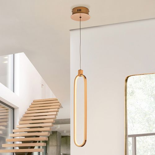 Schuller Colette 787130 LED Single Pendant Golden Frame