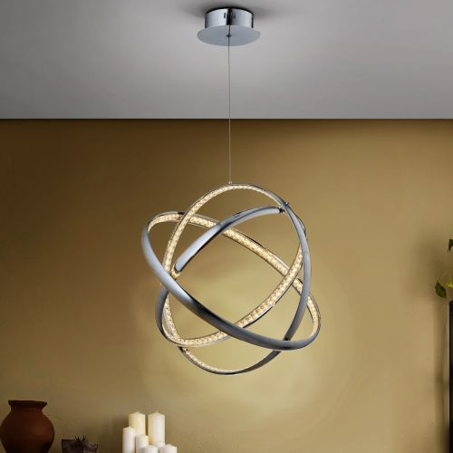 Schuller Celine 813129 LED Crystal Ceiling Pendant Chrome