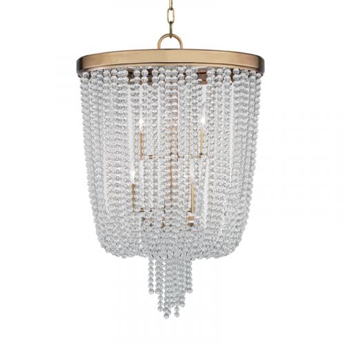 Hudson Valley 8 Light Pendant Aged Brass Royalton 9018-AGB-CE