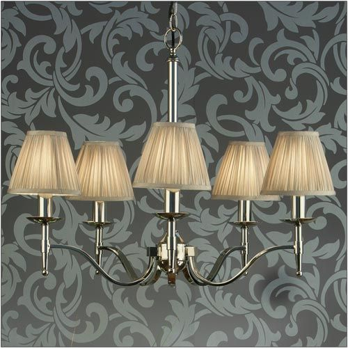 Interiors 1900 Stanford 5 Light Chandelier Nickel 63631