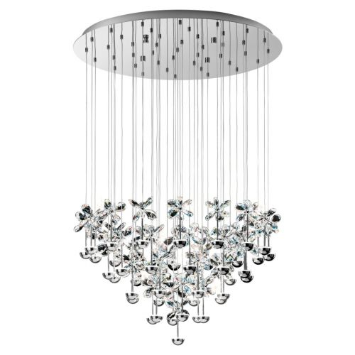 Eglo Pendant LED Diam.780 Chrome/Crystal Pianopoli 93661