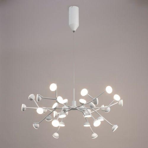 Mantra M6260 Adn LED 36 Light Extra Large Ceiling Pendant White Frame