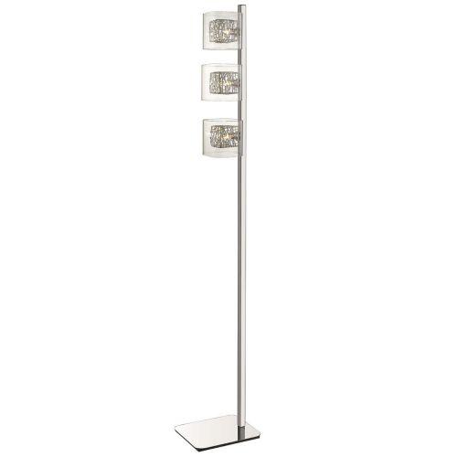 Floor Lamp  3 Light Polished Chrome Frame Lekki Aldermoor LEK7059