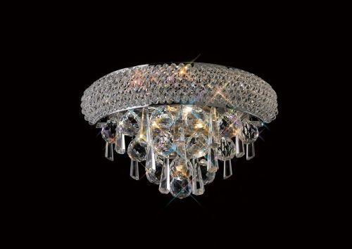Diyas  Alexandra 1 Light Wall Lamp Small  Polished Chrome/Crystal IL31440