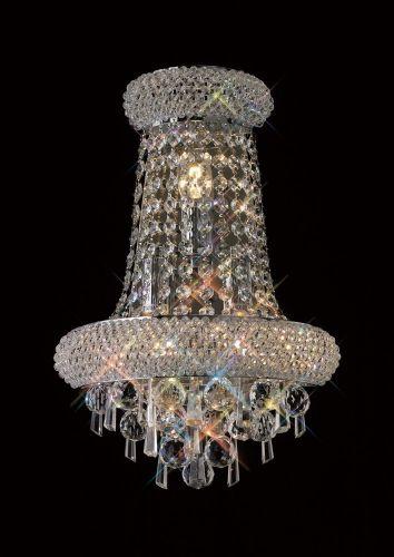 Diyas  Alexandra Large 3 Light Wall Lamp Polished Chrome/Crystal IL31442