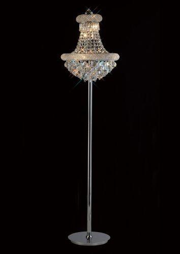 Diyas  Alexandra 8 Light Floor Lamp Polished Chrome/CrystIL31444