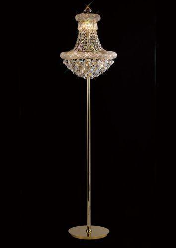Diyas  Alexandra 8 Light Floor Lamp Gold/Crystal IL32104