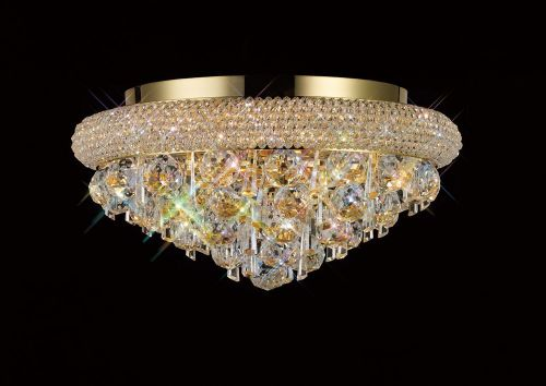 Diyas  Alexandra 6 Light Ceiling Light Gold/Crystal IL32105