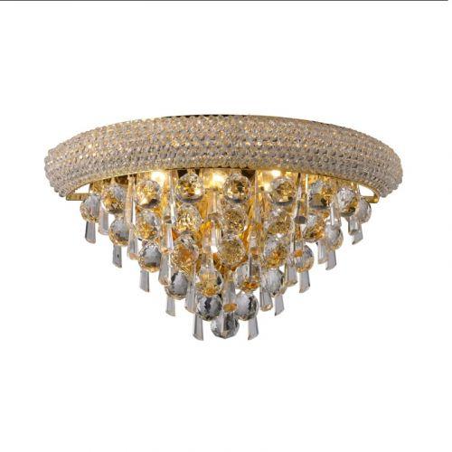 Diyas  Alexandra  Medium 3 Light Wall Lamp Gold/Crystal  IL32101