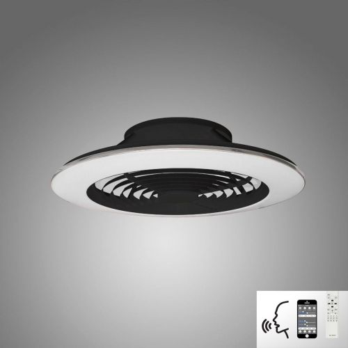 Mantra Alisio XL Black Ceiling Fan 95W LED Light Dimmable Remote Controlled M7492