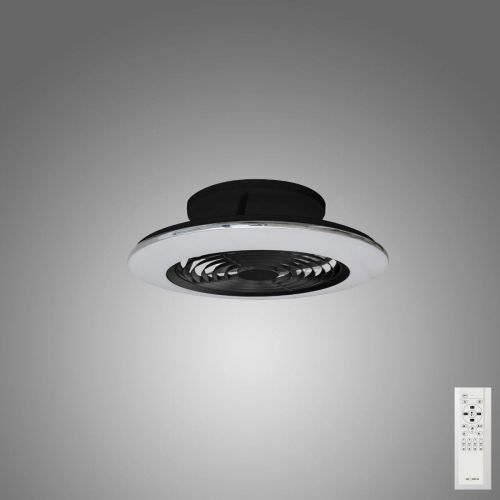 Mantra Alisio Mini Black Ceiling Fan 70W LED Light Dimmable Remote Controlled M7495