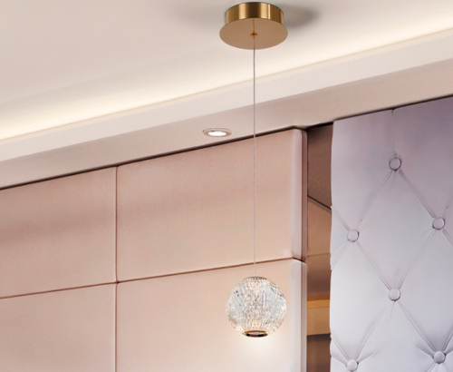 Schuller Austral 354004 1 Light LED Ceiling Pendant Gold