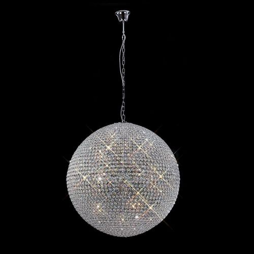 Diyas Ava 18 Light Pendant  Polished Chrome/Crystal IL30196