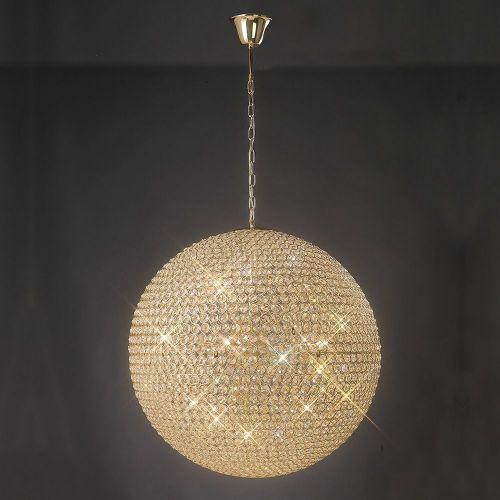 Diyas Ava 12 Light Pendant  French Gold/Crystal IL30750