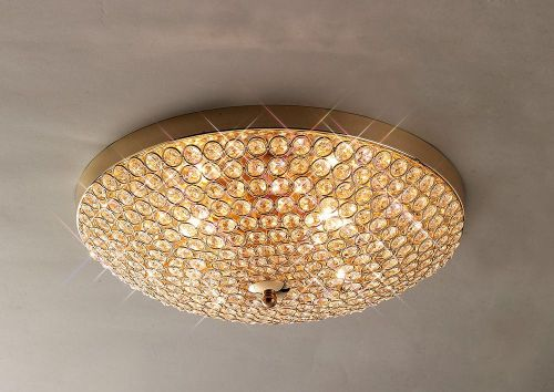 Diyas IL30756 Ava Ceiling 4 Light French Gold/Crystal