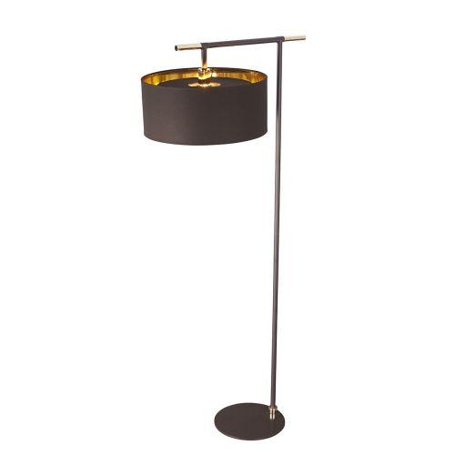 Elstead Balance Floor Lamp Brown/Polished Brass ELS/BALANCE/FL BRPB
