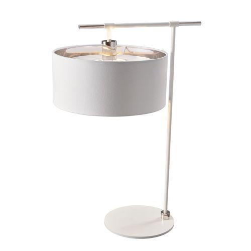 Elstead Balance Table Lamp White/Polished Nickel ELS/BALANCE/TL WPN