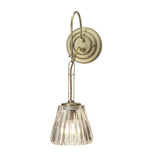 Elstead Demelza Wall Light Brushed Brass ELS/BATH/DEMELZA BB