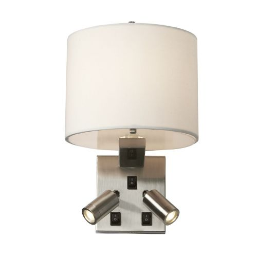 Elstead Belmont Wall Light Brushed Nickel ELS/BELMONT/3W