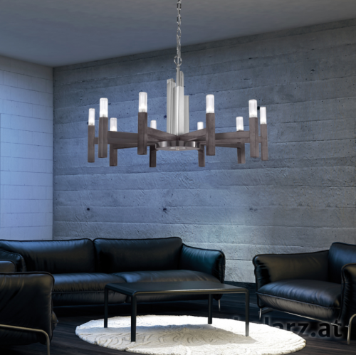 Kolarz Spigolo 10 Light Ceiling Chandelier Brunito Brushed 6030.81060