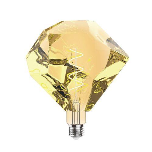 E27 LED Bulb Type E 2100K Extra Warm White 4W Amber Finish Dimmable