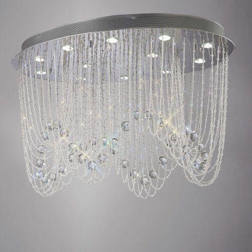 Diyas  Camilla 12 Light Oval Ceiling Polished Chrome/Crystal IL31393