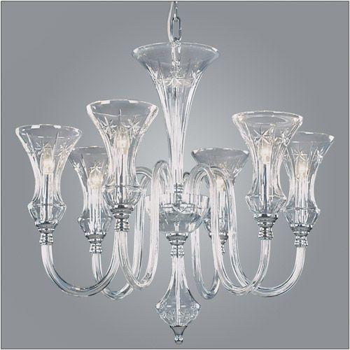 Impex Stara Lead Crystal 6 Light Chandelier CB05444/06