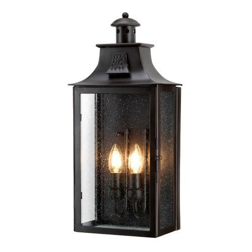 Elstead Kendal Wrought Iron 2 Light Wall Lantern Kendal
