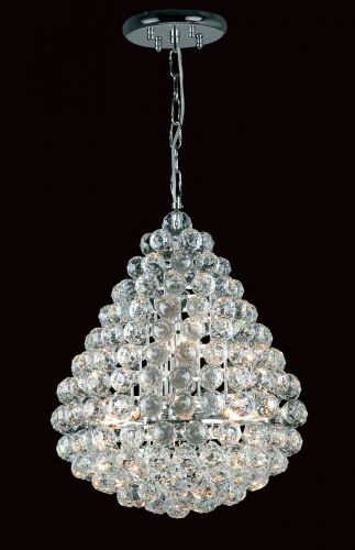 Impex CE05340/08/CH Marseille 8 Light Crystal Chandelier Chrome