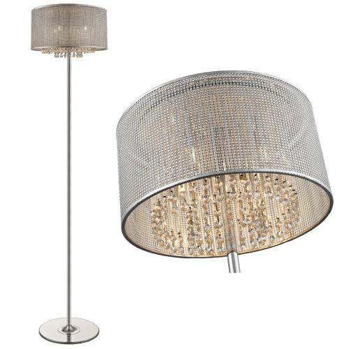 Crystal Floor Lamp 4 Light Chrome Lekki Celestial LEK7053