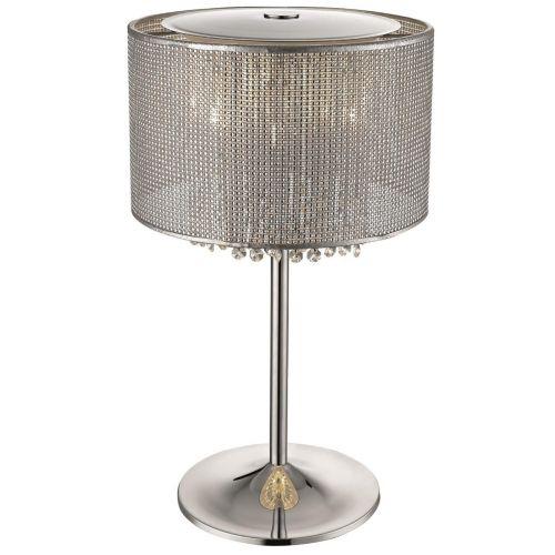 Crystal Table 4 Light Lamp Chrome Lekki Celestial LEK7052