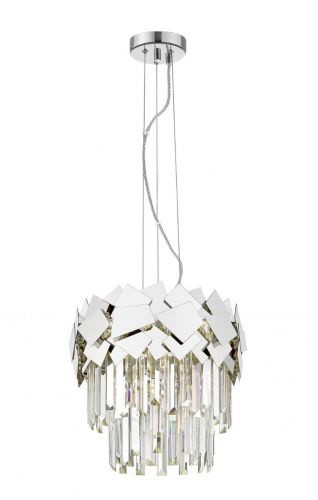 Impex CF1929/04/CH Celine Crystal Laser Cut 4 Light Ceiling Pendant Chrome
