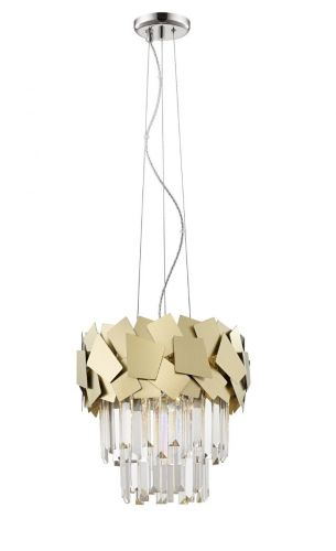 Impex CF1929/04/G Celine Crystal Laser Cut 4 Light Ceiling Pendant Gold
