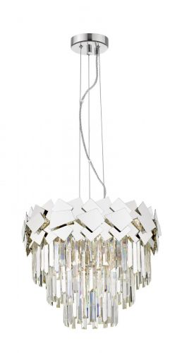 Impex CF1929/06/CH Celine Crystal Laser Cut 6 Light Ceiling Pendant Chrome