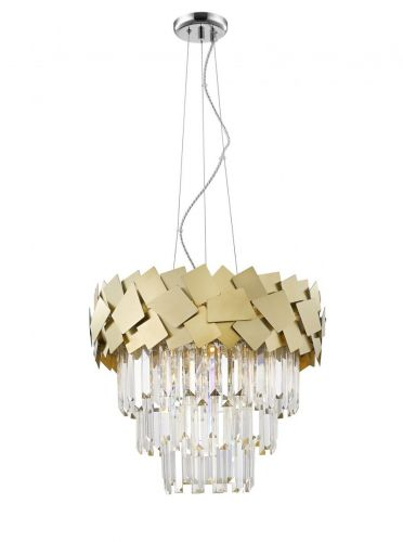 Impex  CF1929/06/G Celine Crystal Laser Cut 6 Light Ceiling Pendant Gold