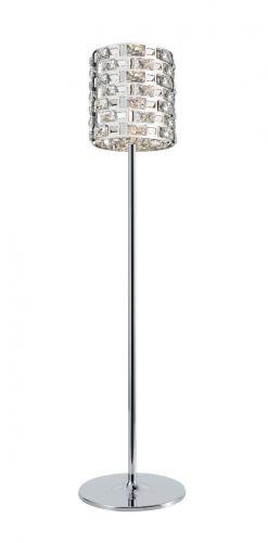 Impex CFH1811/03/FL/CH Lola Crystal Floor Lamp Chrome