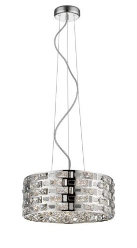 Impex CFH1811/06/CH Lola 6 Light Crystal Ceiling Pendant Chrome