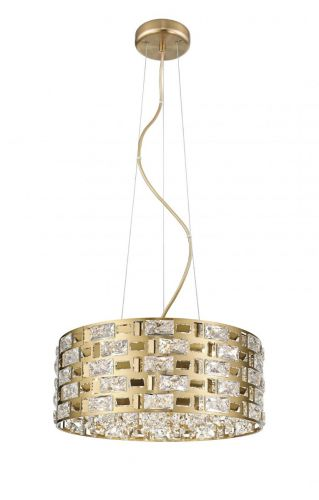 Impex CFH1811/06/G Lola 6 Light Crystal Ceiling Pendant Gold