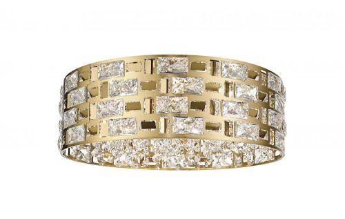 Impex CFH1811/06/PL/G Lola 6 Light Flush Ceiling Light Gold