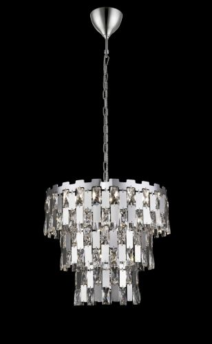 Impex CFH1902/09/CH Alma 9 Light Ceiling Pendant Chrome
