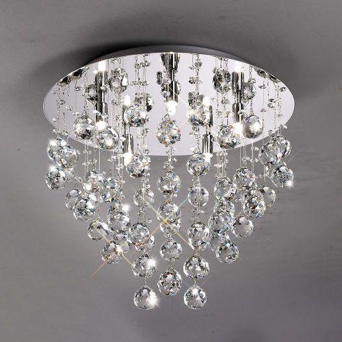Diyas  Colorado 5 Light Ceiling Round  Polished Chrome/Crystal IL30787