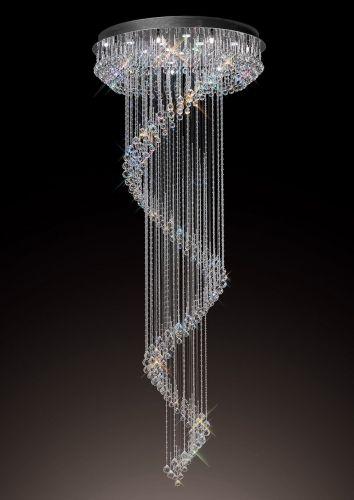 Diyas  Colorado 24 Light Multi-Spiral Pendant   Polished Chrome/Crystal IL31376
