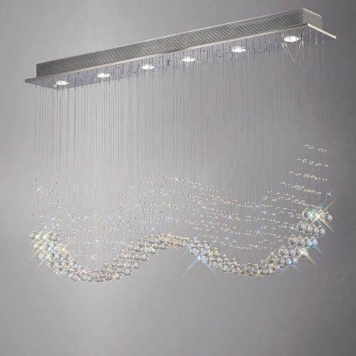 Diyas  Colorado 6 Light Line Pendant  Polished Chrome/Crystal IL31380