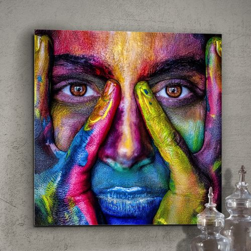 Colores Printed Glass Wall Art
