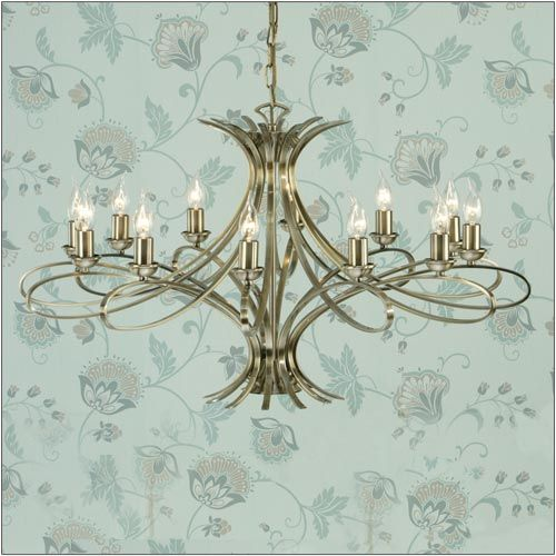 Interiors 1900 Penn 12 Light Chandelier Brass CA7P12BB