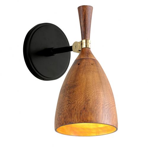 Wall Light Brass / Wood Corbett Utopia 280-11-CE