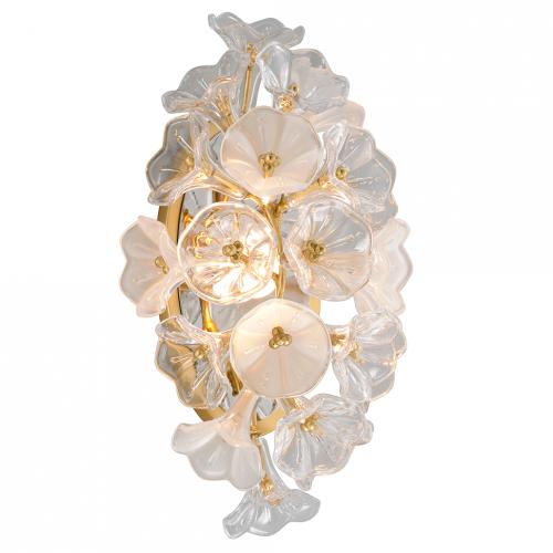 LED Wall Light Gold Leaf Corbett Jasmine 268-11-CE