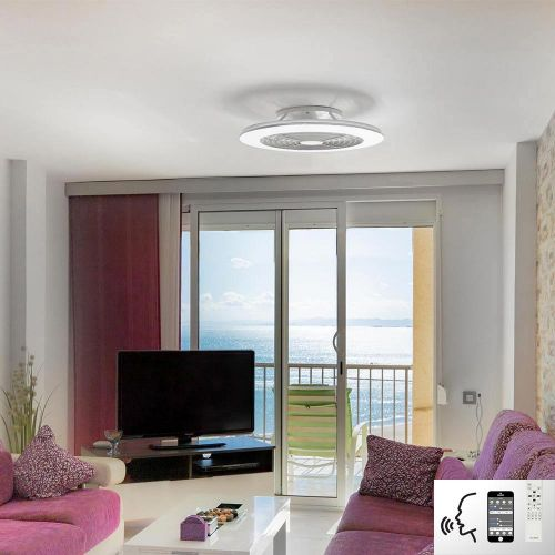Mantra Alisio XL White Ceiling Fan 95W LED Light Dimmable Remote Controlled M7490